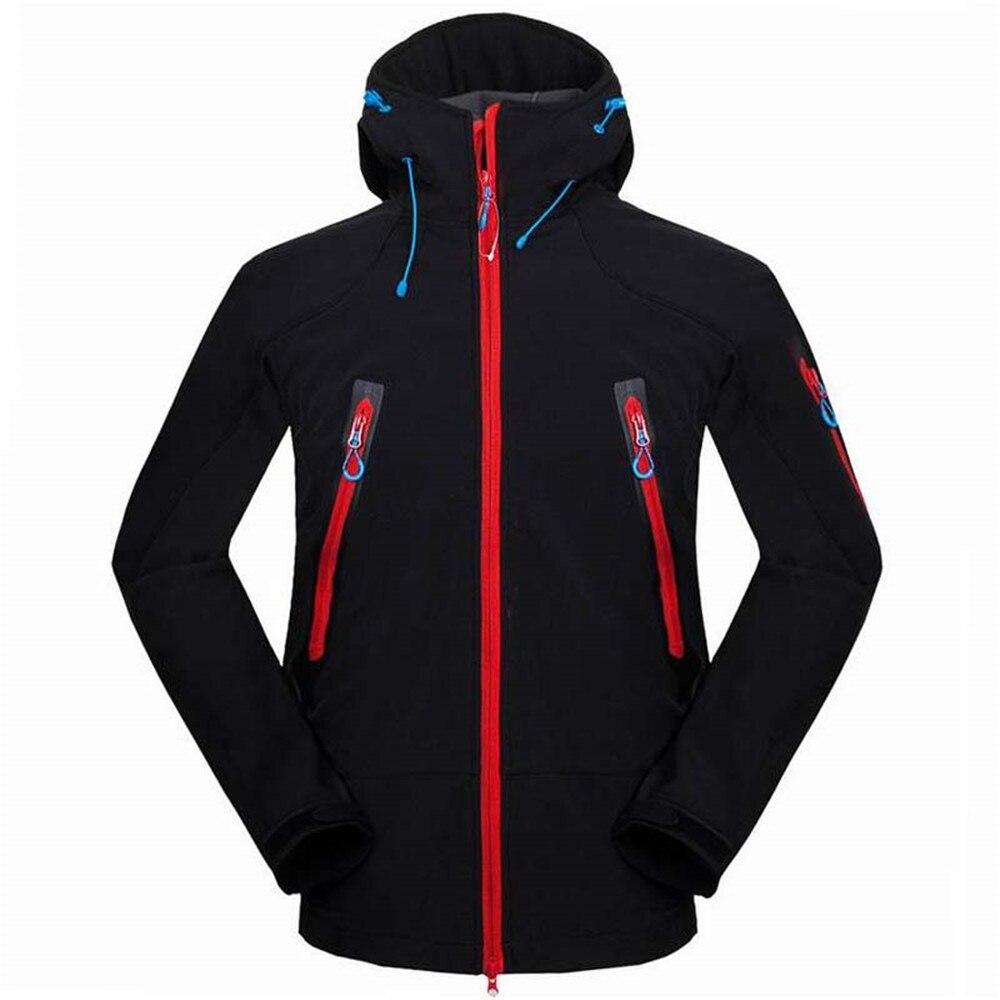 Winter Softshell Jacket Men fleece Hiking Jacket Waterproof Windproof Outdoor Camping Fleece Coats