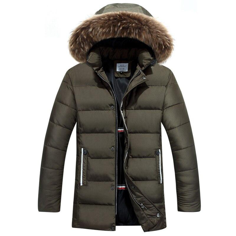 Long Parka Men 2017 Winter Warm Mens Jackets and Coats Hooded Big Fur Parkas Overcoat Men Casual Slim Fit Manteau Homme Hiver