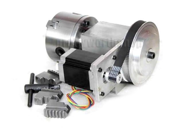 100mm 3 jaw chuck nema23 stepper motor kit for cnc router for Stepper motor kits cnc