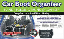 NEW Collapsible Foldable Car Boot Organiser Shopping Car Storage Organizer Bag