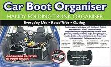 Novo dobrável dobrável carro boot organizador organizador de armazenamento de carro de compras saco
