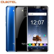 Оригинальный Oukitel K6 4 г Мобильные телефоны 6.0 дюймов 6 ГБ Оперативная память 64 ГБ Встроенная память mtk6763 Octa core android 7.1 Уход за кожей лица ID 6300 мАч NFC Смартфон