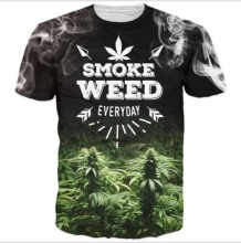 Fashion Casual Hip Hop Womens/Mens Smoke Weed Everyday Letters Funny 3D Print T-Shirt Summer Tops Tees Plus Size S-6XL R1029