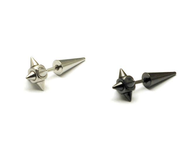 Small Anium Stud Earring Boys Punk Men Stainless Steel Earrings 2203