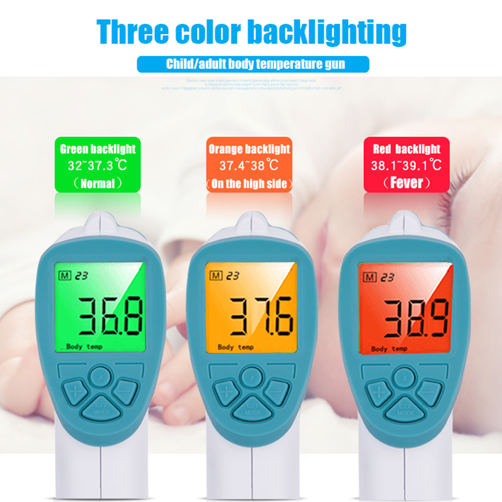 Baby Thermometer Infrared digital Electronic Body Forehead Non contact Thermometer with LCD Backlight Care Temperature Child