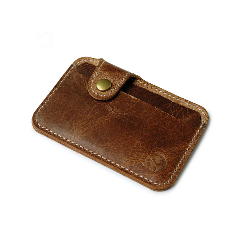 Card holders genuine leather card bags with hasp