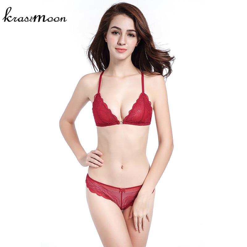 Francë e markës Francë Sexy Thin Dantel Bra Set Të brendshme - Të brendshme - Foto 3