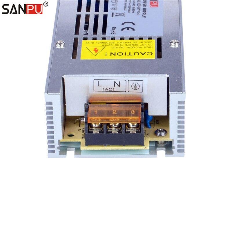 SANPU SMPS alimentation LED alimentation 24 v 300 w 12a tension constante commutation pilote 220 v ac à dc transformateur d'éclairage pas de ventilateur intérieur - 6