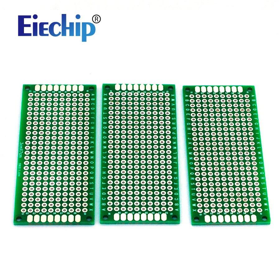Double Side Prototype PCB diy Universal Printed Circuit Board 3x7cm 5pcs/lot