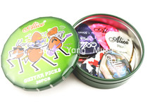 Alice Green Big Round Metal Pick Holder Case Box With 20pcs Pearl Celluloid Guitar Picks Free Shipping