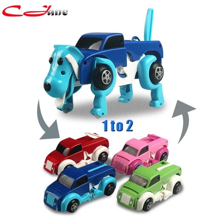 Nueva deformación del coche automático de mascotas perro de juguete 14.5*6*10 CM