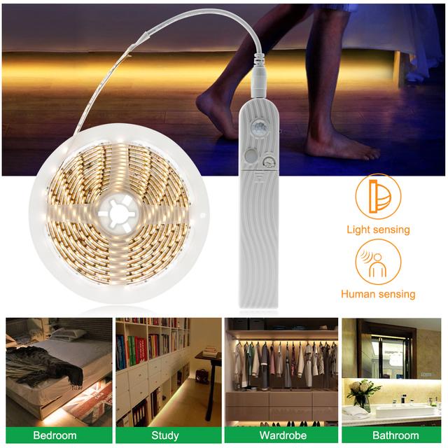 White LED Strip with Motion Sensor