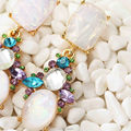 Nuevas mujeres de moda nuevos pendientes de la llegada de la marca de metal dulce con gems stud cristal / cristal / resina del aro del pendiente grande para para niñas