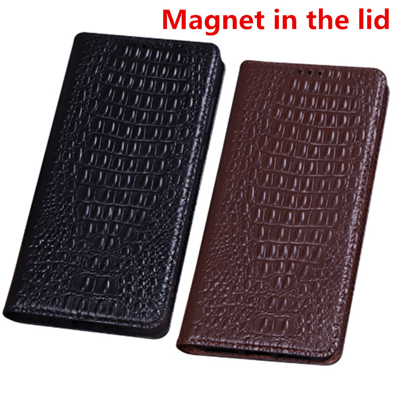 ZD07 Genuine leather magnet flip case for Motorola Moto Z2 Play case for Motorola Moto Z2 Play phone bag free shipping