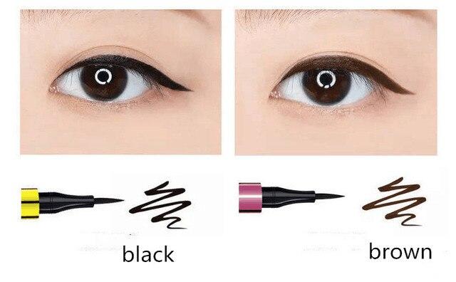 1PC Black Brown Waterproof Eyeliner Pencil Long-lasting Liquid Eye Liner Pen Pencil Make Up Tool 5