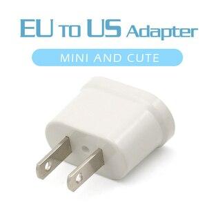 Image 1 - 1 Pc Us Adapter Plug Eu Us Reizen Muur Elektrische Power Lading Outlet Sockets 2 Pin Plug Socket Euro europa Naar De Vs