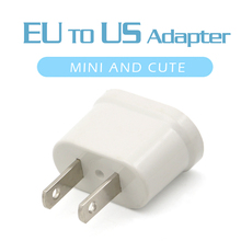 1PC US Adapter Plug EU to Travel Wall Electrical Power Charge Outlet Sockets 2 Pin Socket Euro Europe To USA