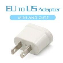 Adaptador de tomada elétrica para viagem, tomada ue para estados unidos, 1 peça europa para estados unidos
