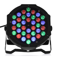 36W 36leds AC90 240V LED Lamp RGB LED Flat Par Light Stage Lamp For KTV Party