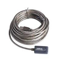 16ft USB Activo 2.0 Extensor/Repetidor/Cable de Extensión con Una Función de amplificador de señal fichas Soporta Alta Velocidad de Transferencia de Datos tasa