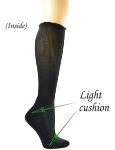 Image 3 - 4 пары, Женские бамбуковые носки до колена с бесшовным носком