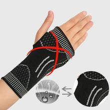 Elastic Sport Wrist Support Wristband Wrap Nylon Breathable Wrist Protector Weight Lifting Gloves Body Building font