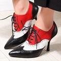 Tamanho 34-39 partido Lace-Up mulheres sapatos da moda marrom preto 2016 nova moda sexy mulher senhoras Casuais plataforma bombas dos saltos altos