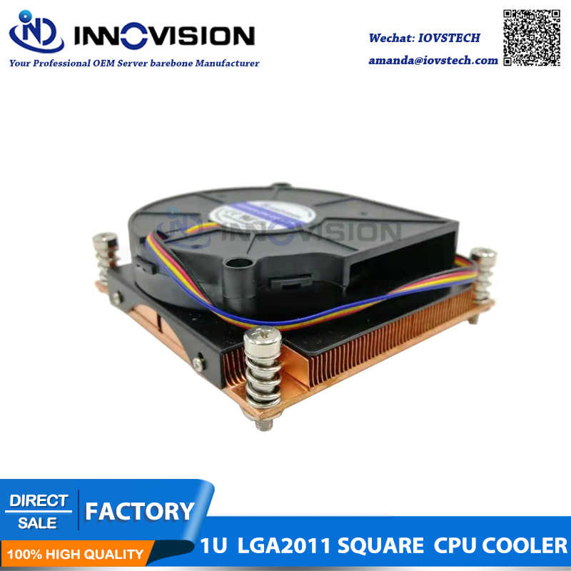 1u server cpu heatsink for LGA 2011 Socket, square shape,LGA 2011-R3 CPU Cooler fan