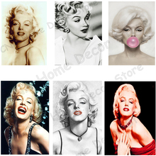 Marilyn Monroe Photo Mosaic Drill Resin Embroidery 5D Diy Square Diamond Painting Handmade Cross Stitch Kit