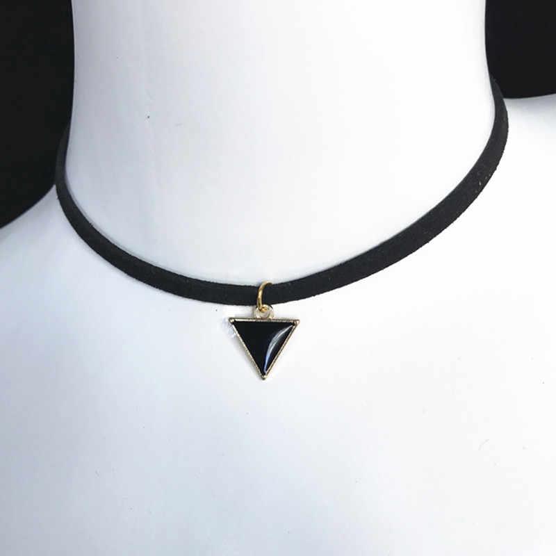 Nowa sprzedaż retro gotycki naszyjnik naszyjnik choker punk czarny aksamitny zamsz kobiety krótki naszyjnik łańcuch biżuteria Bijoux hurtowych tanie