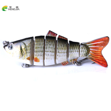 Купить с кэшбэком HENGJIA Fishing Wobblers Lifelike Fishing Lure 6 Segment Swimbait Crankbait Hard Bait Slow  Isca Artificial Lures Fishing Tackle