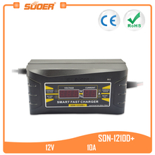 Suoer  new design battery charger 12v car battery charger(SON-1210D+) chain saw battery greenworks gd40cs40 40v without battery and charger