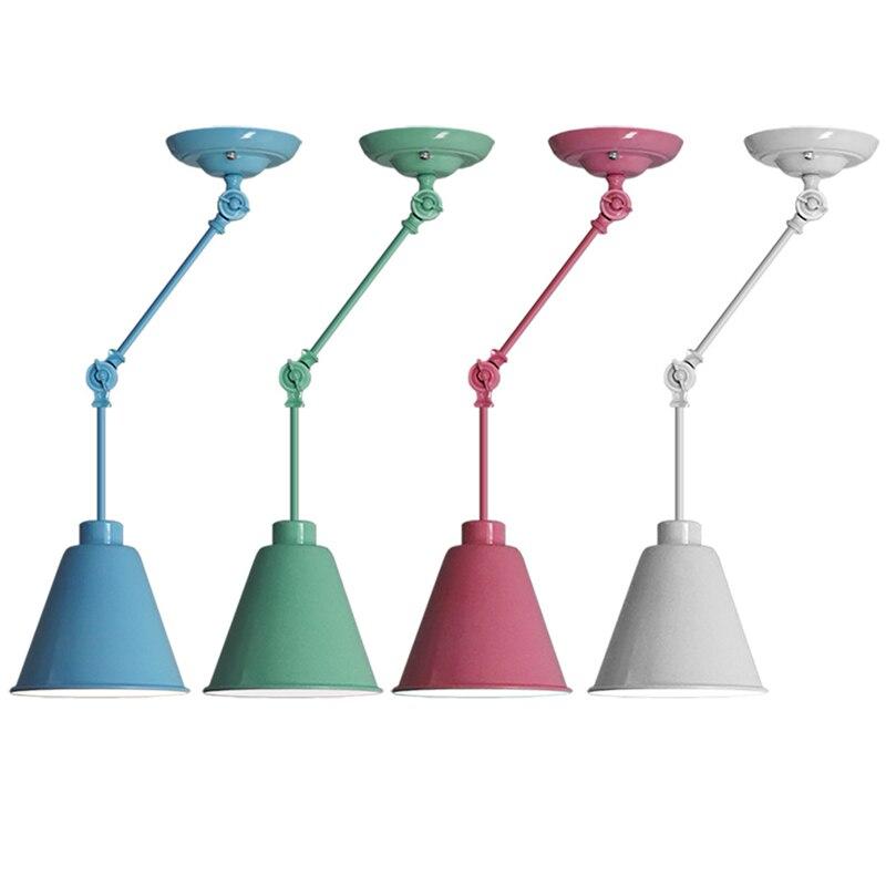 Moderno Creativo Muti-Colore Telescopica regolabile Luce Da Incasso A Parete In Ferro Lampade E27 AC90-260V Artistico Lampada Da Parete Decorazione Domestica