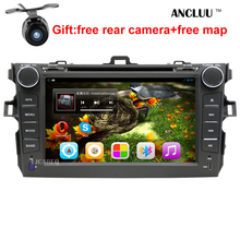 """eight"""" Android 6.zero Automotive DVD Participant GPS Navigation For Toyota Corolla 2006 2007 2008 2009 2010 2011 automobile raido stereo with SWC BT wifi"""