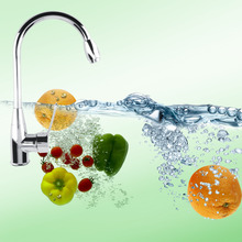 Сплав хромированный Горячая/холодной смесителя водопроводной воды бассейна кухня ванная мыть кран лидер продаж