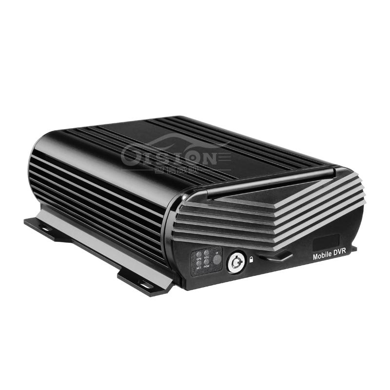 Voiture Mobile DVR 4CH Vidéo/Audio D'entrée avec IR À Distance Contrôleur Encrption HDD AHD 1080 p Vidéo Numérique Enregistreur pour Bus/Taxi