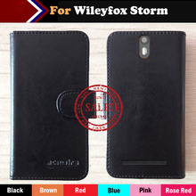 Hot!! New Wileyfox Storm Case Factory Price 6 Colors Leather Exclusive For Multi-Function Cover Phone +Tracking