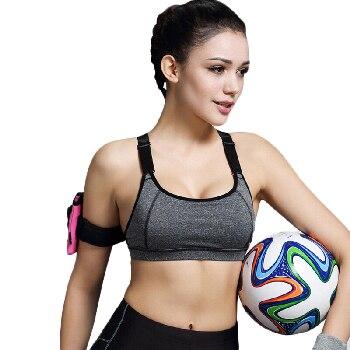B. BANGผู้หญิงชุดชั้นในกีฬาสำหรับวิ่งออกกำลังกายการออกกำลังกายเบาะสายฟรีShakeproof Push Upเสื้อยอดนิยมแบบไม่มีรอยต่อชุดชั้นในสำหรับผู้หญิง