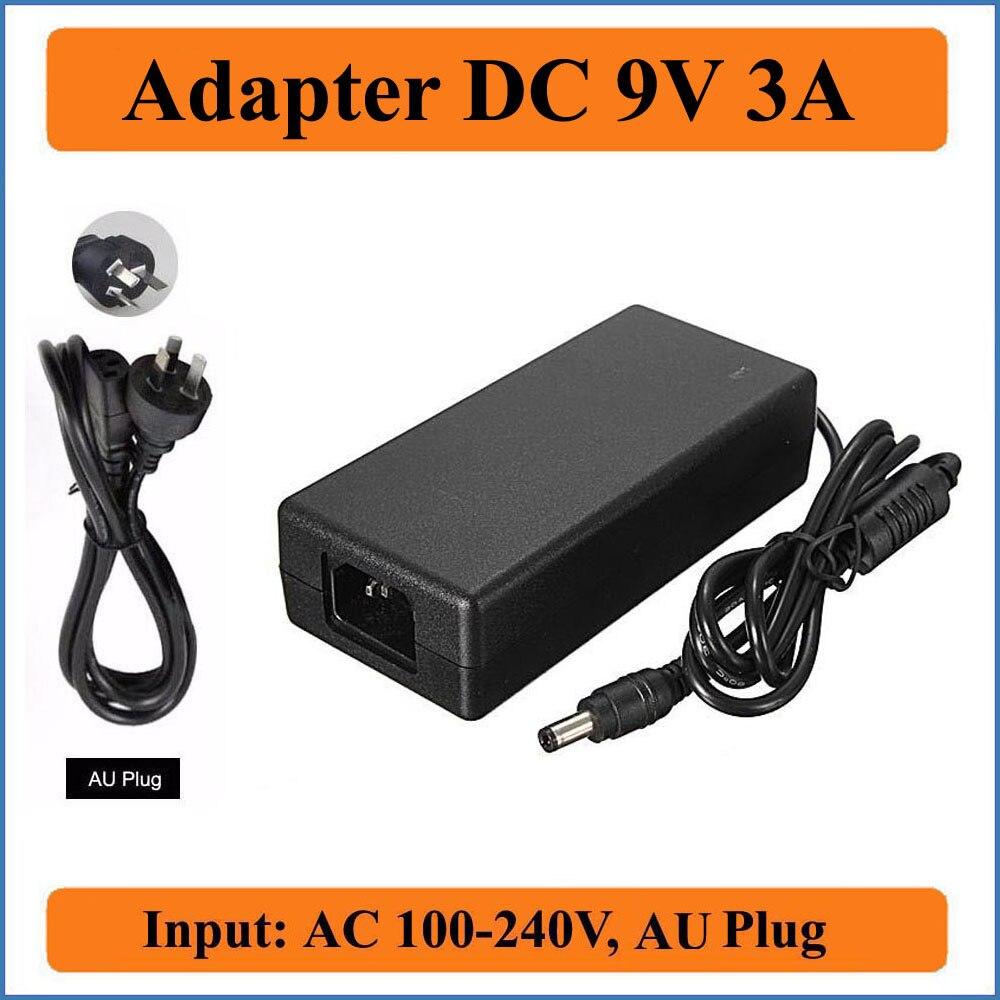 AC100V-240V para dc9v 3000ma conversor adaptadores carregador de fonte de alimentação 5.5mm x 2.1-2.5mm adaptador ac/dc da c.c. da tomada da ua de 9v 3a em todo o mundo