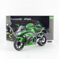 Automaxx/1:12 Scale/Plastic Toy Model motorcycle Toy/Kawasaki Ninja 250/300 Motorcross/Delicate Educational Collection/Gift