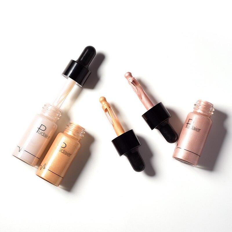 1Pcs Face Illuminator Makeup Liquid Highlighter Contour Glow Shimmer Shiny Bronzer Long Lasting Brighten Glitter Highlight in Bronzers Highlighters from Beauty Health