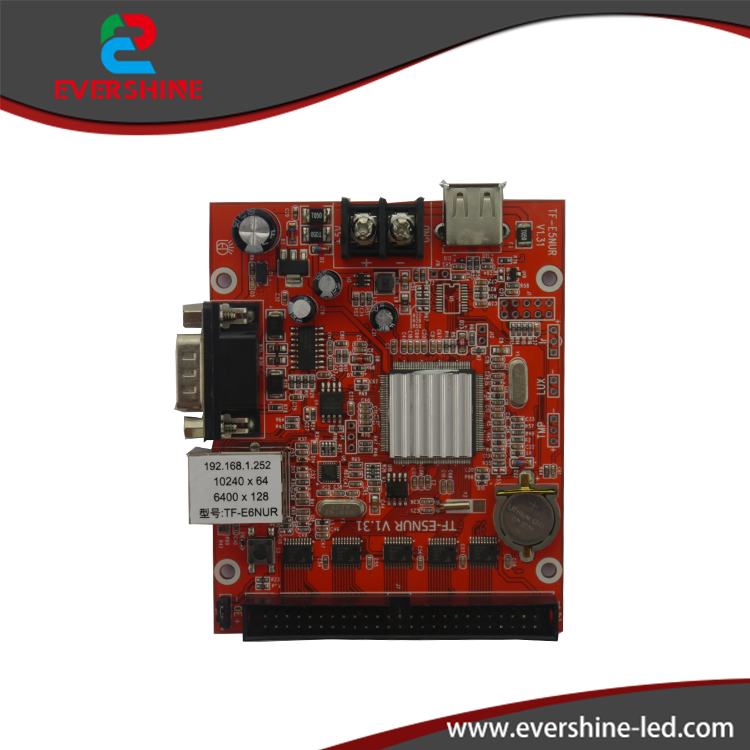 ФОТО TF-E6NUR TF-E5NUR Lan port+USB+RS232 port LED sign controller system Network 10240*64,6400*128pixels led panel control card