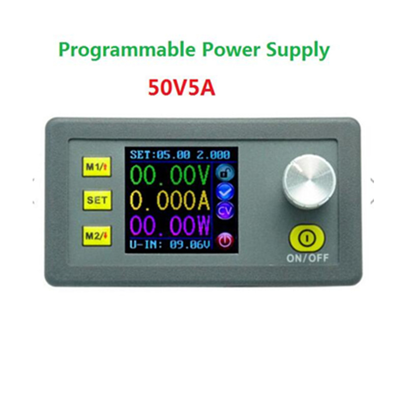 DP50V5A Buck Adjustable DC Power Supply Module With Integrated Voltmeter Ammeter Color Display 5pcs lot intersil isl8121irz isl8121qfn 3v to 20v two phase buck pwm controller with integrated 4a mosfet drivers