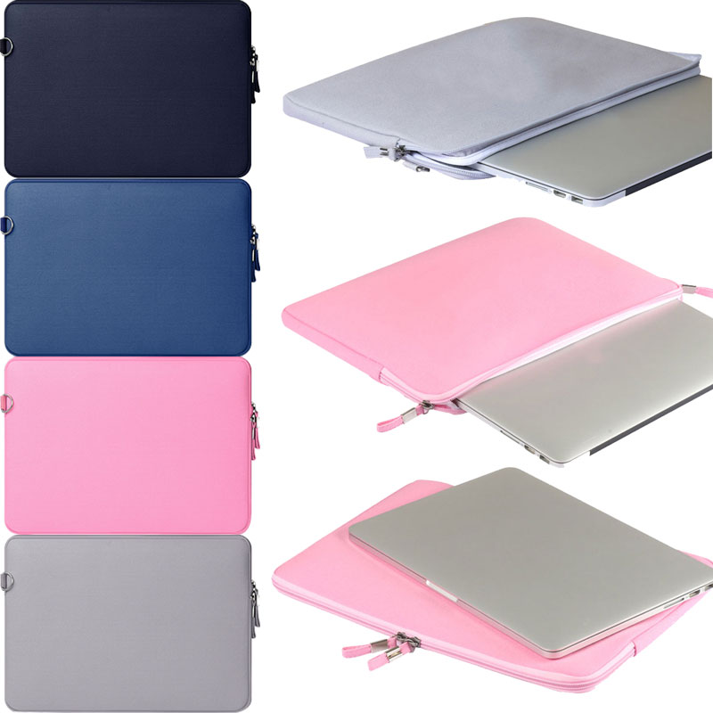 New Canvas Notebook Laptop Sleeve Case Carry Bag Pouch Cover For Macbook Air Pro With Small Bag For Mouse QJY99