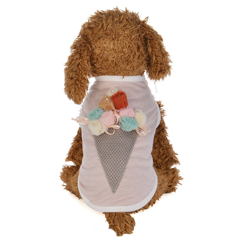 Cute Ice Cream Cone Pet Puppy Clothes Summer Tank Top Dog Sleeveless Vest Gift ...
