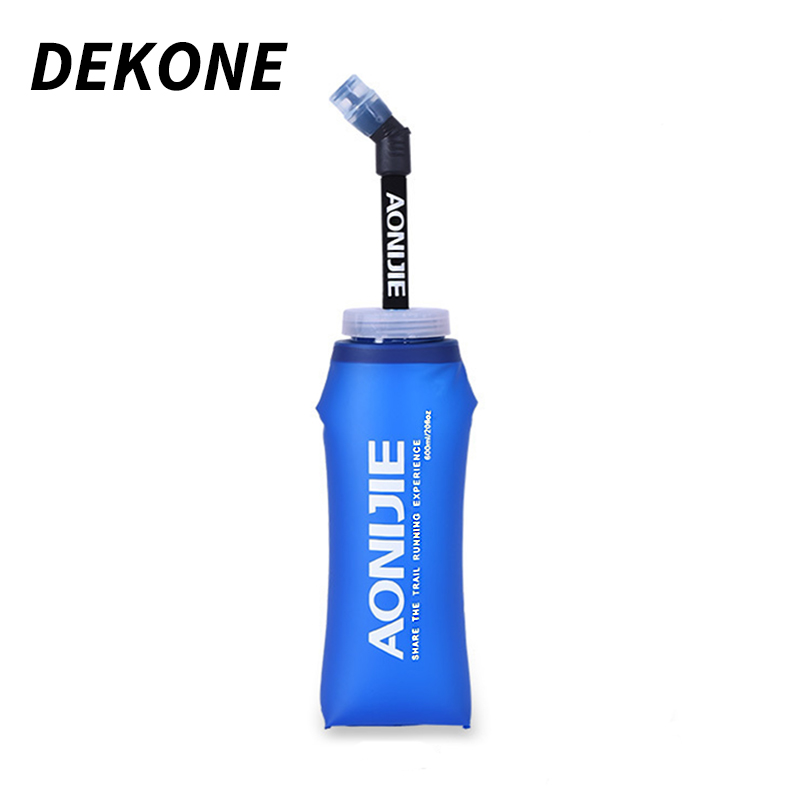 Sports Water Bottle TPU Extended Tip Folding Large Capacity Hockey Travel Climbing Running Portable Unbreakable Package Bottles