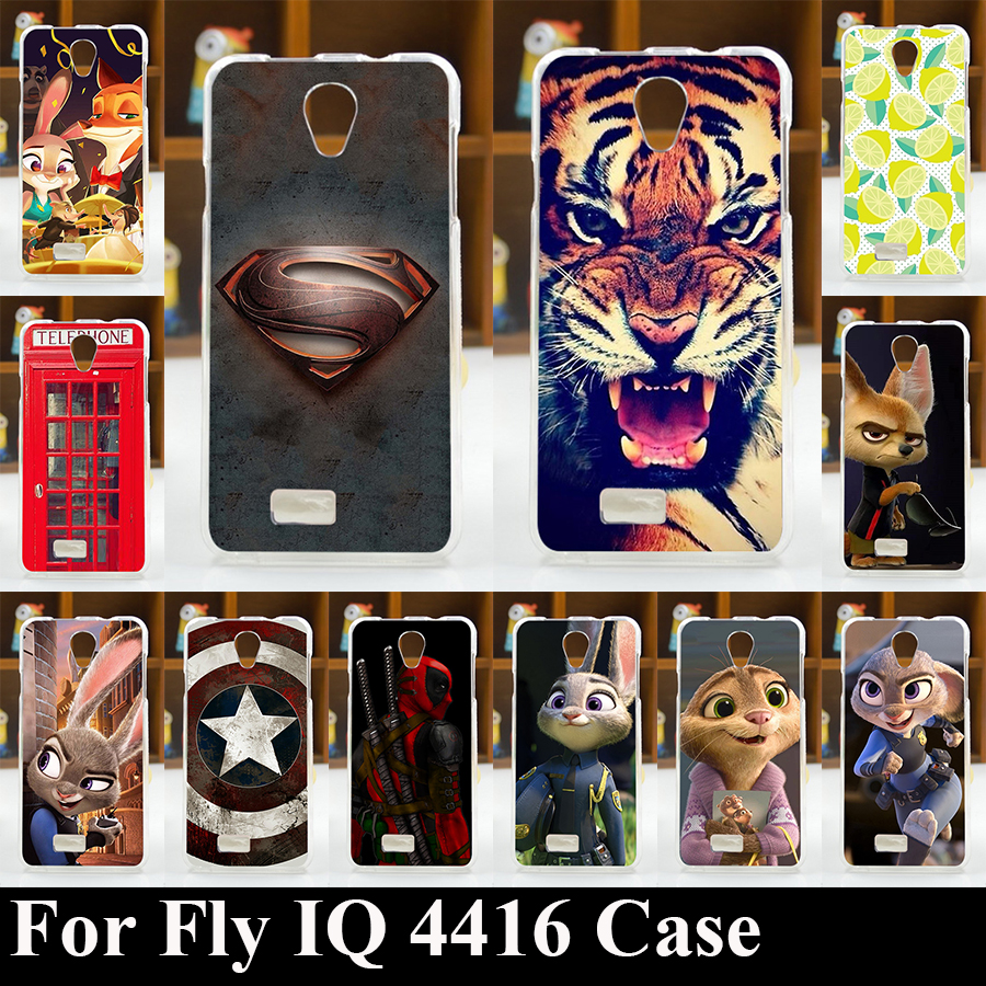 FOR Fly IQ 4416 Era Life 5 TPU SOFT Plastic Mobile Phone Cover Case DIY Color Paitn Cellphone Bag Shell Free Shipping