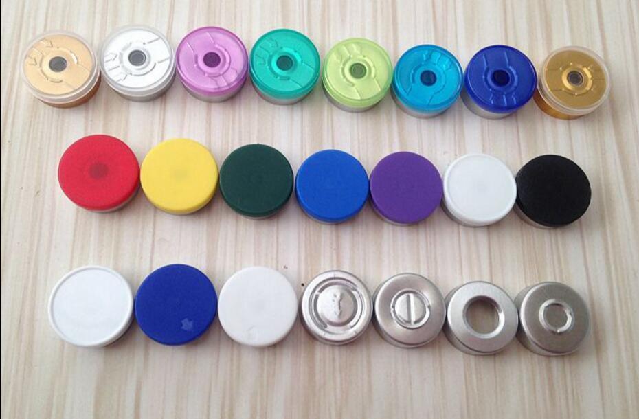 200pcs/lot 20mm Color Options Aluminum-plastic Cap Cover Glass Vial Bottle Top Sealed Pharmaceutical Caps Tear Off Cap