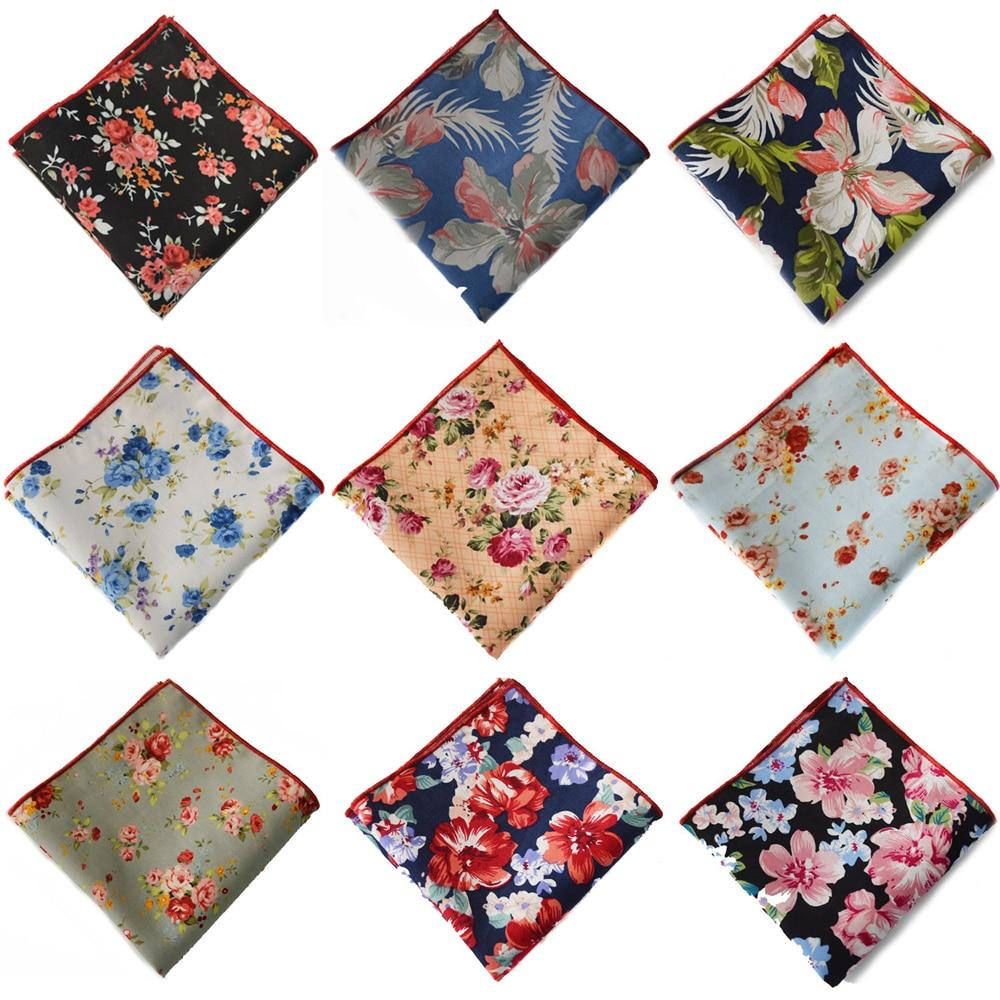 Men High Grade Floral Hanky Elegant Flower Handkerchief Wedding Pocket Square BWTYX0508