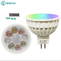 DC12V 2 4G Wireless Milight Dimmable Led Bulb MR16 RGB CCT Led Spotlight Smart Led Lamp